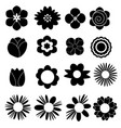 flower set icon on white background vector image vector image
