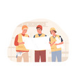 foreman and workers in hard hats at construction vector image vector image