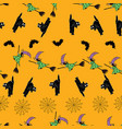 fun halloween seamless pattern background with vector image
