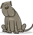funny big gray dog cartoon vector image vector image