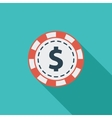 Gambling chips icon vector image