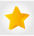 Golden star icon 3d vector image