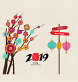 happy new year 2019 zodiac pig lunar new year vector image vector image