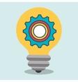 idea gear wheel icon vector image