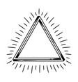 impossible infinite triangle figure vector image vector image