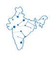 isolated map of india vector image vector image