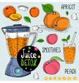 Juice detox set vector image