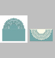 laser cut paper lace envelope with mandala element vector image