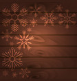 merry christmas and happy new year wood background vector image vector image
