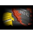 music menu yellow piano vector image vector image