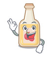 okay apple cider isolated with mascot vector image vector image