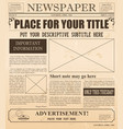 old newspaper retro design vector image