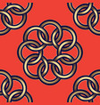 pattern gold flowers orange vector image vector image