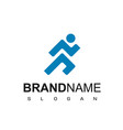 people run logo design inspiration vector image vector image