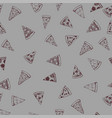 pizza background pieces vector image