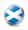 Scotland flag button vector image vector image