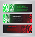 set of design banner template vector image vector image