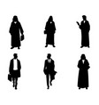 silhouettes arab businessmen vector image vector image