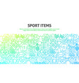 sport items concept vector image vector image