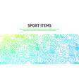 Sport items concept