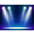 Stage lights background vector image