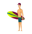 summer beach activities guy standing vector image vector image