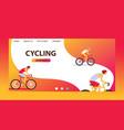 triathlon track cycling vector image
