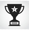 trophy cup flat icon simple winner symbol black vector image vector image