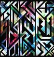 vintage mosaic geometric pattern vector image vector image