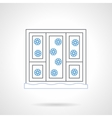 Window with snowflakes flat color line icon vector image vector image