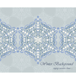 Winter card background with ornaments vector image