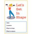 women fitness class poster vector image