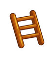 wooden stairs isolated vector image