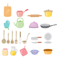 Kitchen Equipment Icons Set vector image