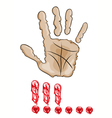 Hand stop signal vector image