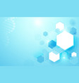 abstract hexagons with science and technology vector image vector image