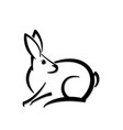 abstract icon of a hare shape vector image vector image