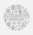 alternative energy round vector image vector image