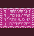 baby fabric script for girl cute knitted abc vector image vector image