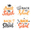 back to school banner templates set vector image vector image