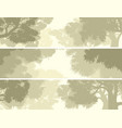 banners crown of trees against the sky vector image vector image
