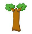 baobab tree icon cartoon style vector image vector image