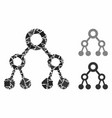 binary tree mosaic icon irregular elements vector image vector image