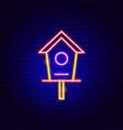 bird house neon sign vector image vector image