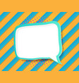 blank speech bubble in comic book pop art style vector image