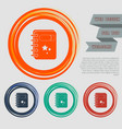 book icon on red blue green orange buttons vector image vector image