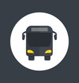 bus icon in flat style vector image