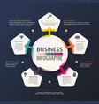 business infographic work and information scheme vector image vector image