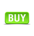 buy green 3d realistic square isolated button vector image vector image