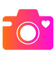 camera love heart icon template vector image